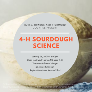 Cover photo for 4-H Sourdough Science